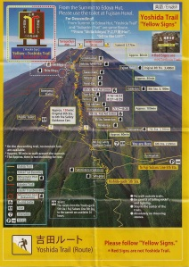 Yoshida Trail Map 2010